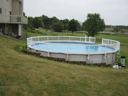 above ground pools sloped backyard beautiful pool retaining wall slope google search of 33