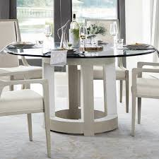Bernhardt Axiom Dining Table in Grey and White - Table Only ...