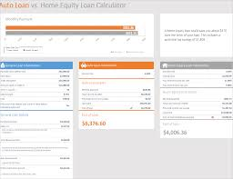 Auto Loan Calculator In Excel Auto Loan Vs Home Loan Calculator Excel