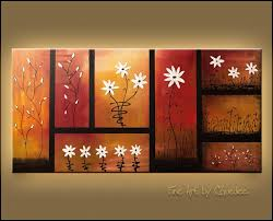 signed fine art canvas prints and posters of contemporary abstract paintings sunset garden