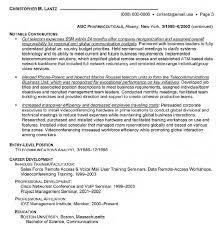 Manager Telecommunications Resume