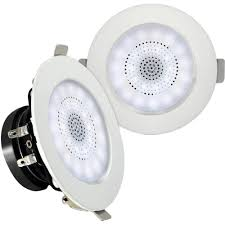pyle pro pdicbtl3f 3 bluetooth ceiling wall speakers with led light
