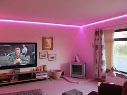 neon lighting for home. easy diy living room project with pink neon lamp lighting for home