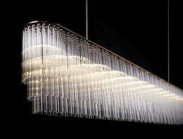 linear crystal chandelier