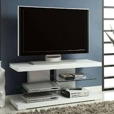 high gloss white tv stand w glass shelves