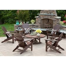 Exterior Trex Outdoor Furniture With Wooden Adirondack Chairs And