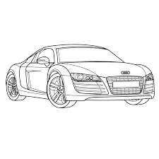 Kleurplaat Race Auto Blueprint Kleurplaat Audi R8 Kleurplaatje Nl