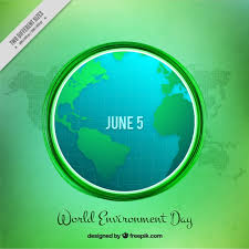 World Environment Day Background With Earth And Sunrays