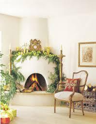 Southwest Fireplace Design Ideas Veranda Christmas Kiva Fireplace With Cedar Garland Green