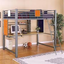 Compact Corner Desk Bedroom Metal Loft Bed With Corner Desk Expansive Concrete Table