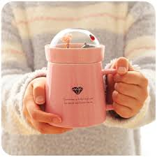 cute mugs online. Exellent Cute Aliexpresscom  Buy 400ml Large Capacity Cute Coffee Mugs Creative Bone  China Mug Ceramic Cup With Lid From Reliable Ceramic Cup Suppliers On Chanu0027s Teapot  Intended Online E