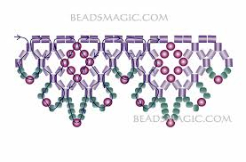 Seed Bead Patterns Custom Free Pattern For Necklace Flame With 48 Cut Seed Beads Beads Magic