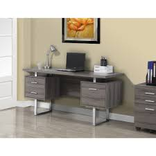 Dark Taupe Reclaimed-look Silver Metal 60-inch Office Desk - Free Shipping  Today - Overstock.com - 16857377