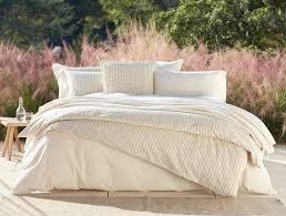 organic cotton linen birch duvet cover
