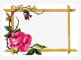 Floral Border Frame Design Hd Png Download Border Png