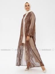 Brown Abaya Designs Brown Unlined Abaya