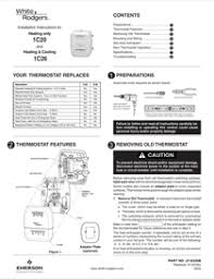 white rodgers thermostats c single stage setpoint white rodgers 1c20 101 single stage setpoint thermostat manual