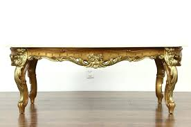 antique marble top coffee table coffee table sold carved gold bronze finish vintage coffee table marble