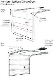 overhead door track s garage dimensions size details