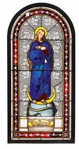 Los 1355 Großes Historismus Fenster Mit Darstellung Der Maria
