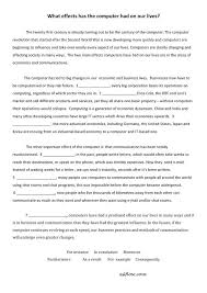cause efffect essay transitions worksheet eslflow click here for the what effects has the computer had on ourl lives pdf file answers