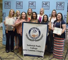 npc alpha delta nu nursing honor society national park college pictured left to right front row allyson dunbar scotti gerhardt ines ramirez