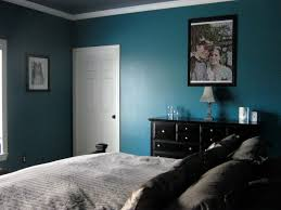 dark teal and grey bedroom photo 3