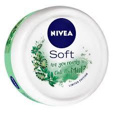 Nivea Soft Light Moisturising Cream For Face Nivea Soft Light Moisturising Cream Chilled Mint 100ml