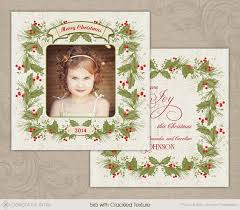 Vintage Holly Christmas Card [CC087] : Designs By Amie   Photoshop ...