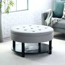 padded ottoman coffee table oval ottoman coffee table center table black leather storage ottoman coffee table
