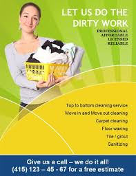 Housekeeping Flyers Templates 14 Free Cleaning Flyer Templates House Or Business