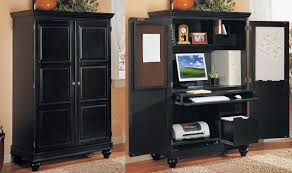 Computer armoire desk Work Station Furniture Mesmerizing Computer Armoire For Office Home Space Come Arm Designs Corner Computer Armoire Black Arm Designs