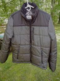men s black zeroxposur puffy coat jacket size small