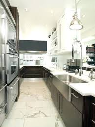 creative galley kitchen images kitchen contemporary galley kitchen idea in with a farmhouse sink and stainless