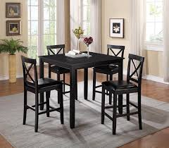 chic pub style table with 4 chairs pub table sets with 4 chairs montibello round pub table 4 stools