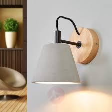 in concrete lighting. Modren Concrete Possio Wall Light W Concrete Lampshade And Wood605525901  In Concrete Lighting