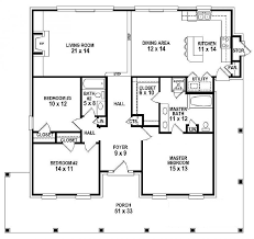 floor plan of a one story house. Simple Plan 654151  One Story 3 Bedroom 2 Bath Southern Country Farmhouse Style House  Plan  House Plans Floor Home Plan It At HousePlanItcom And Of A Story R