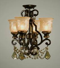 golden teak swarovski strass crystal dd on a wrought iron ceiling mount hand painted with a