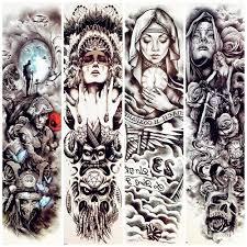 временная татуировка большая мужчины рука рукав пират женщины монахиня