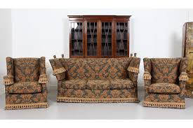 harrods knole drop end sofa and chairs suite photo 1