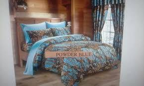 woods teal camo design comforter set