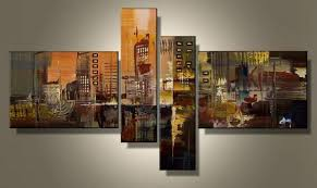 Multi Panel Wall Art Hand Painted 4 Piece Wall Art Multi Panel Canvas Oil  Painting Huge Canvas Home Decor