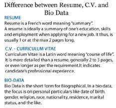 Meaning Cv Resume Pelosleclaire Com