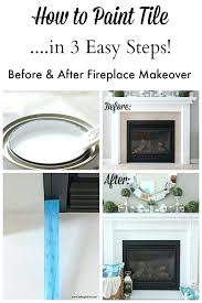 chalk paint fireplace tile screen painted surround high heat easy update