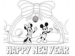 New Years Childrens Coloring Pages