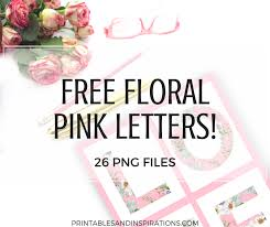 Free Download Letter Pink Floral Letters Free Download Printables And Inspirations
