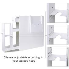 Ustyle Bathroom Storage Floor Cabinet Wood Slim Bathroom Cabinet