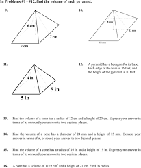 The surface area of a sphere is same as the curved surface area of a right circular cylinder whose height and diameter are 12 cm each. In Problems 1 4 Find The Surface Area And Volume Of Each Prism Pdf Free Download