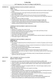 Download Corporate Development Associate Resume Sample as Image file