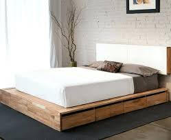 full size of white wooden queen bed frame oak double with drawers global free storage plans